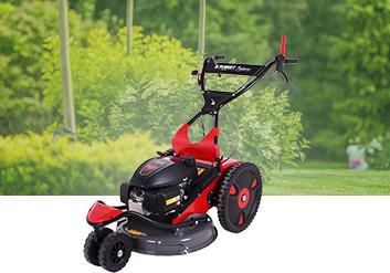 Débroussailleuse à roues pour tondre, faucher les herbes hautes de votre jarcin