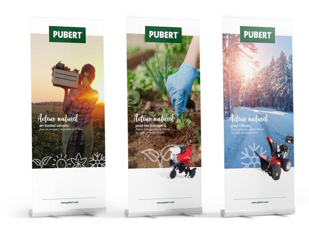 Une nouvelle identité graphique pour le fabricant français de machines pour le potager, le jardin et la nature Pubert